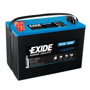 ΜΠΑΤΑΡΙΑ ΣΚΑΦΩΝ EXIDE DUAL AGM EP900 100/720
